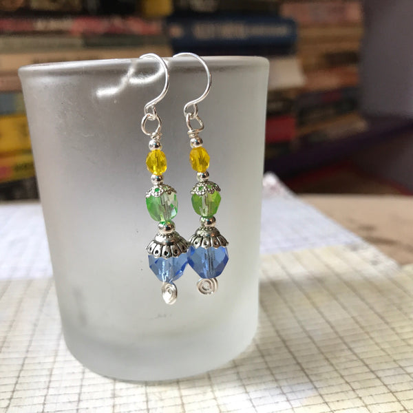 Tiny Evil Genius Earrings: Colors of the Soul