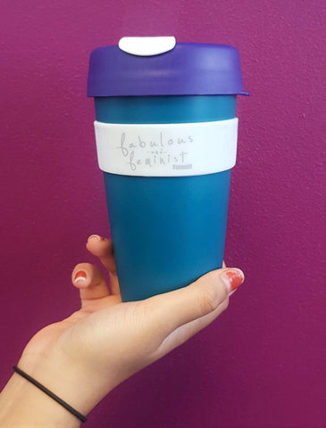 FABULOUS & FEMINIST Suffrage KeepCup - Purple & Green
