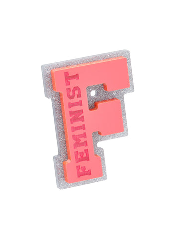 F for feminist brooch (Smashing Stereotypes)