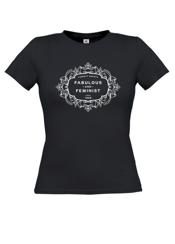 The Fawcett Society 'Fabulous and Feminist' Black Womens T-shirt