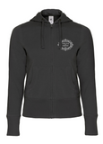 The Fawcett Society 'Fabulous and Feminist' Black Hooded Full Zip Women