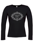 The Fawcett Society 'Fabulous and Feminist' Black Womens Long Sleeve T-Shirt