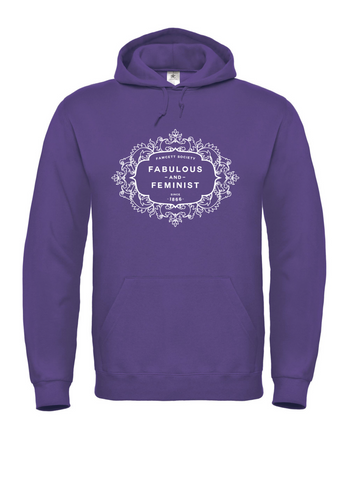 The Fawcett Society 'Fabulous and Feminist' Purple Hooded Sweatshirt