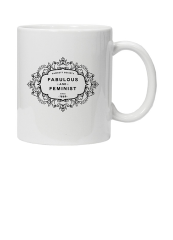 The Fawcett Society 'Fabulous and Feminist' White Mug