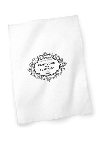 The Fawcett Society 'Fabulous and Feminist' White Teatowel