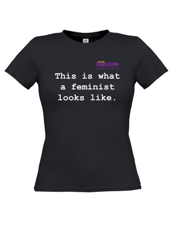 This is what a feminist looks like Black Womens T-shirt