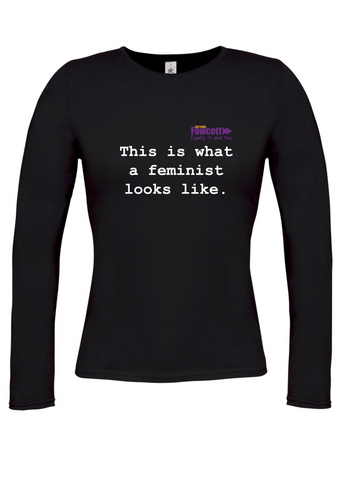 This is what a feminist looks like Black Womens Long Sleeve T-Shirt