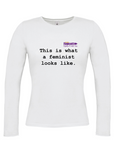 THIS IS WHAT A FEMINIST LOOKS LIKE Long Sleeve T-Shirt (Fitted)