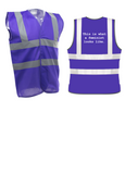 This is what a feminist looks like Purple Hi Vis Vest