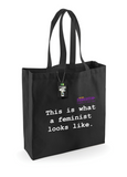 This is what a feminist looks like Black Fairtrade Bag