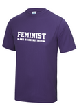 'Feminist and Running This' Unisex Sportswear T-shirt