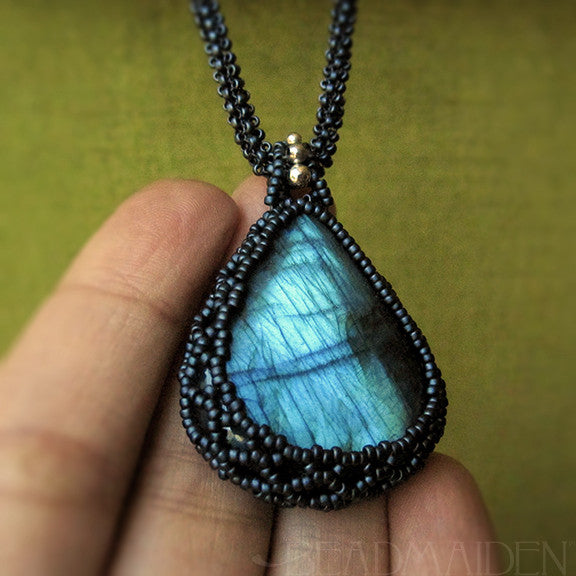 Woven Gemstone Necklace