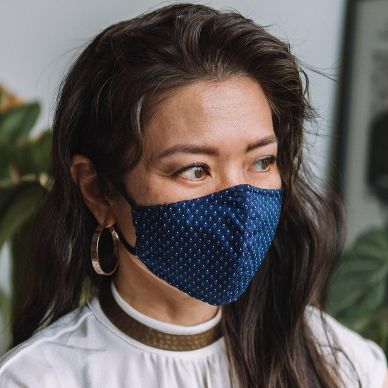 Amal Cotton Face Mask - Ender's Navy