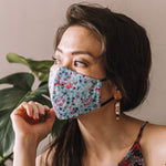Cotton Face Mask - Marigold Blue