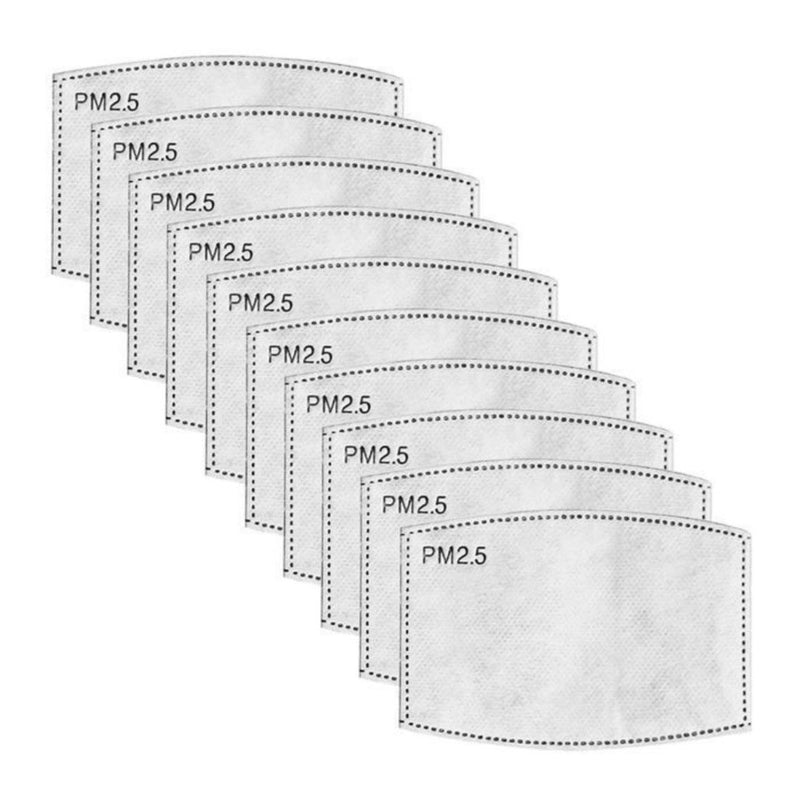 PM2.5 Filters for Cotton Face Masks - 10 / 20 / 50 Packs