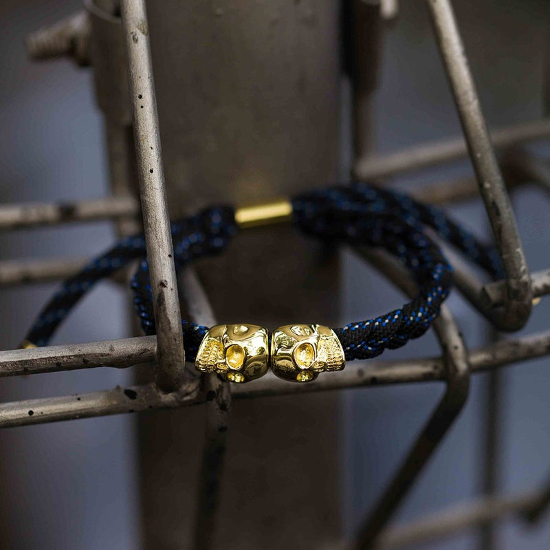 Skull Rope Bracelet - Midnight Nova and Gold