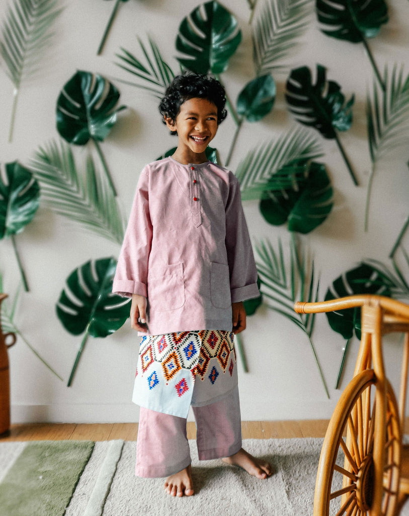 Kids Baju Melayu (6Y-7Y) - Mint Green (Sampin sold separately)