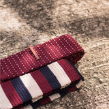 Triko Burgundy x White Midnight Stripe