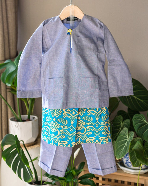Blue Songketsungki Kids Sampin