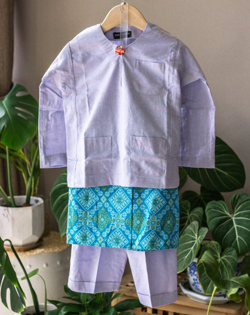 Green Songketmania Kids Sampin