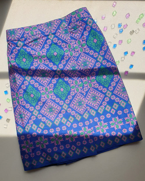 Blue Songketmania Kids Sampin