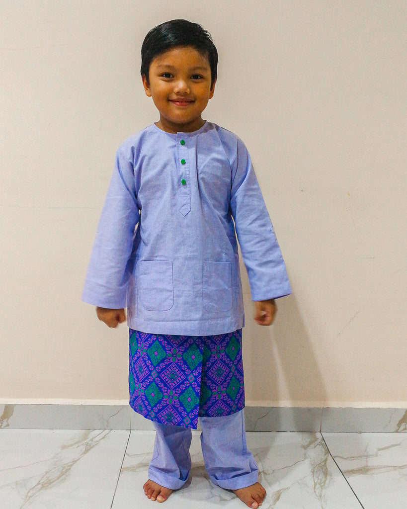 Kids Sampin Songketmania - Purple