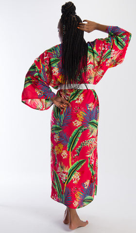 The Talia Kimono Red Palm