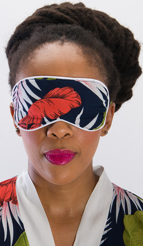 Sleep Mask Navy Palm