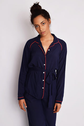 The Teresa Pyjamas Navy/Red
