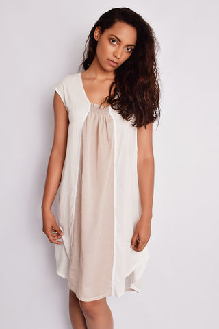 The Maranda Night Dress Ivory/Sesame