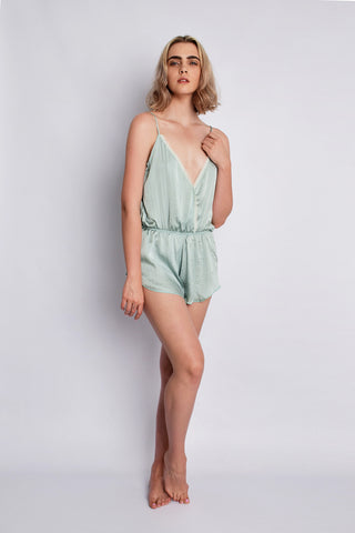 The Olga Playsuit Dusty Mint