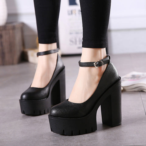 Chunky Heeled Sandals (2 Colors)