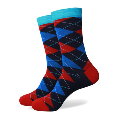 Argyle Socks - Choose from 6 Brilliant Colors