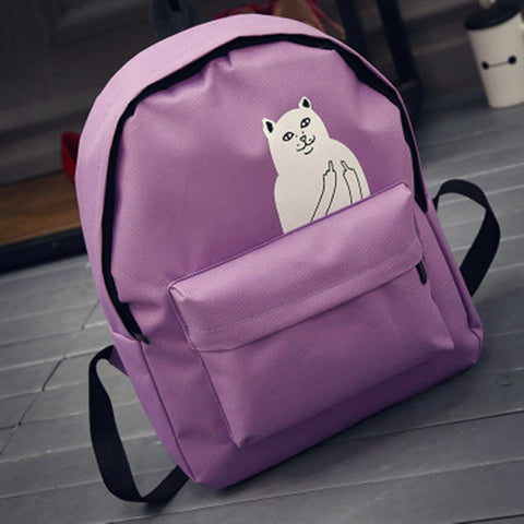 Backpack With Print (5 Colors)