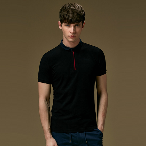 Polo Shirt with Contrast Placket (3 Colors) - TakeClothe - 1