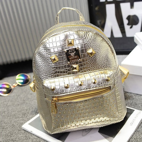 Backpack with Studding Detail (4 Colors)