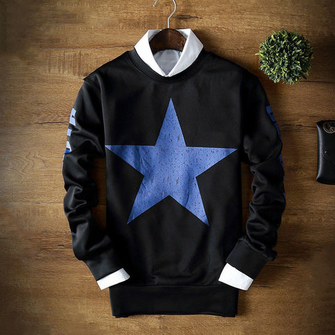 Crew Neck Sweatshirt With Print (3 Colors) - TakeClothe - 1