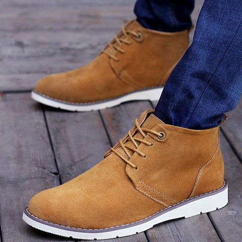 Lace Up Chukka Suede Boots (3 Colors) - TakeClothe - 1