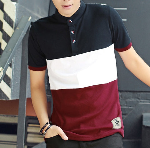 Polo Shirt With Stripe (2 Colors) - TakeClothe - 1