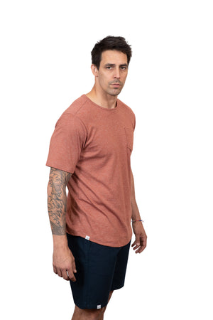 KINN 398 Collection Short sleeved round neck pocket tee shirt