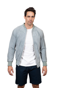 KINN 398 Collection Suede Bomber Jacket