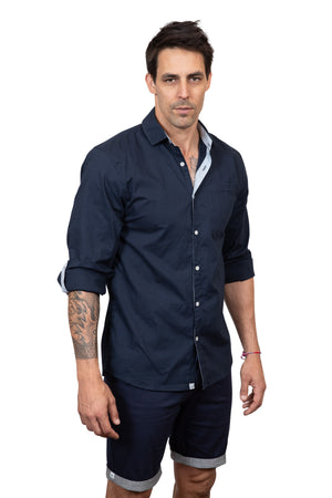 KINN 398 Collection cotton slub Shirt