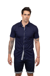 KINN 398 Cotton Button Through Shirt