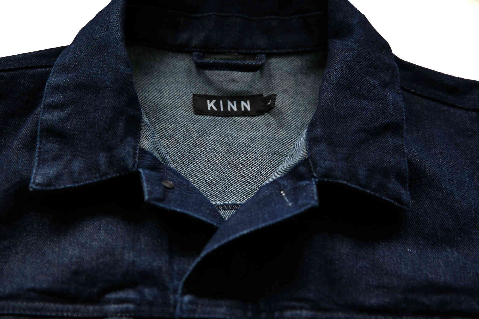 KINN Apparel Mens Indigo Dyed Denim Jacket