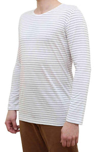 KINN Apparel Men's Long Sleeve Striped Tee Shirt