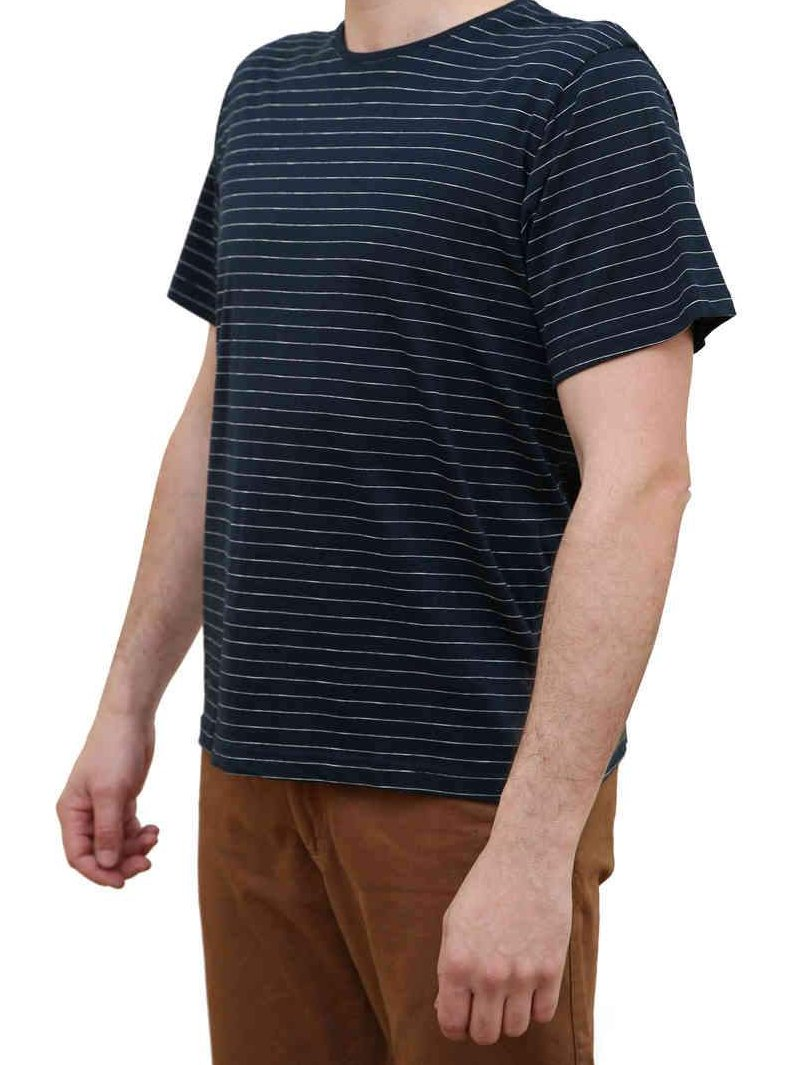 KINN Apparel Men's Short Sleeve Stripe Tee Shirt