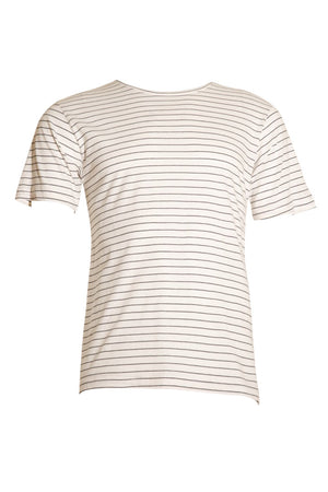KINN short sleeve stripe tee - White