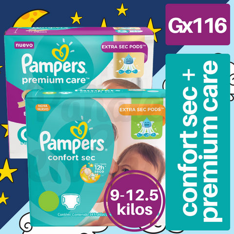 Pampers Day/Night PACK Gx116 (76 Confort Sec + 40 Premium Care) Vto.: 31/12/17