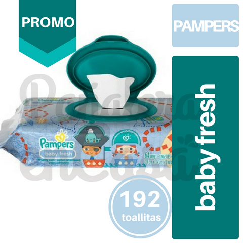 Toallitas PAMPERS Baby Fresh x64 PACK x3