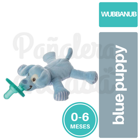 Chupete Wubbanub Avent Soothie Pacifier 0-6 Blue Puppy